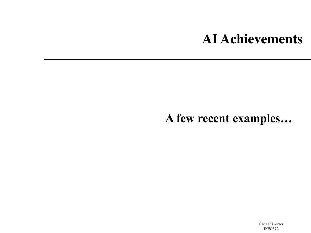 AI Achievements