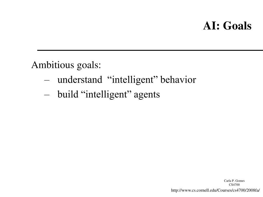 AI: Goals