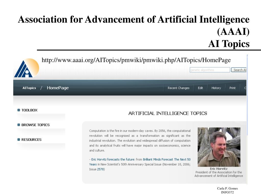 Association for Advancement of Artificial Intelligence