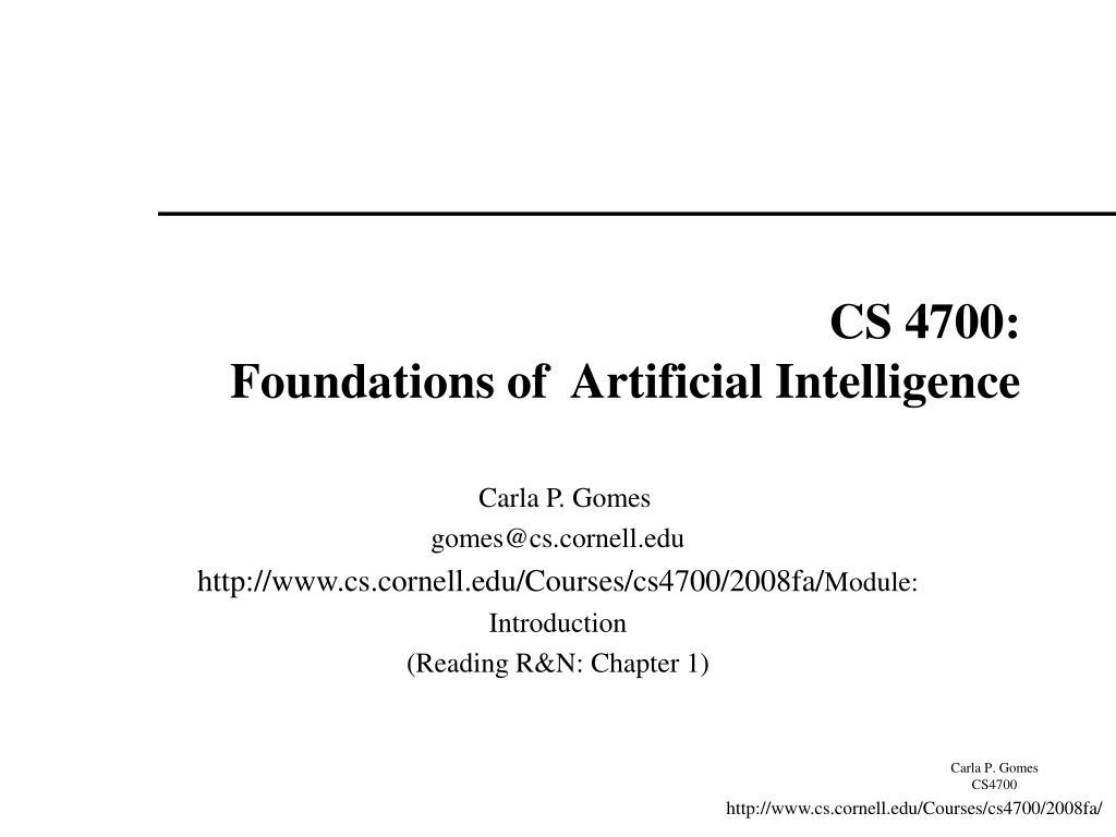 CS 4700: