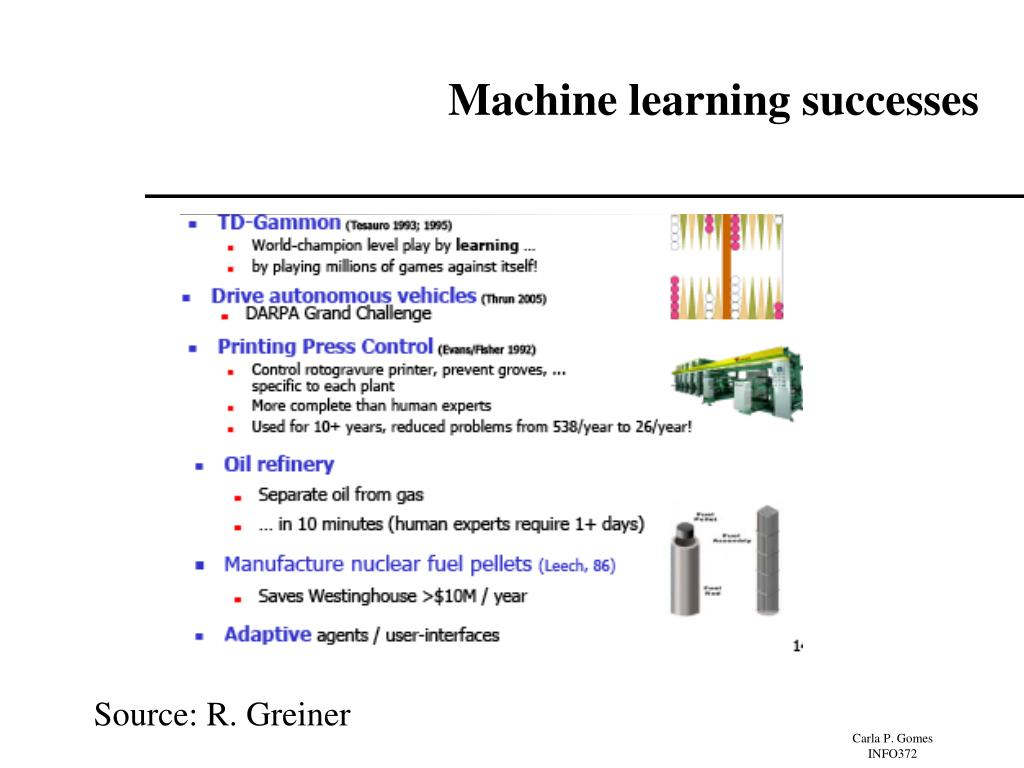 Machine learning successes