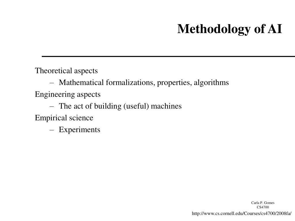 Methodology of AI