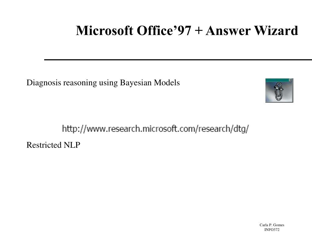 Microsoft Office'97 + Answer Wizard