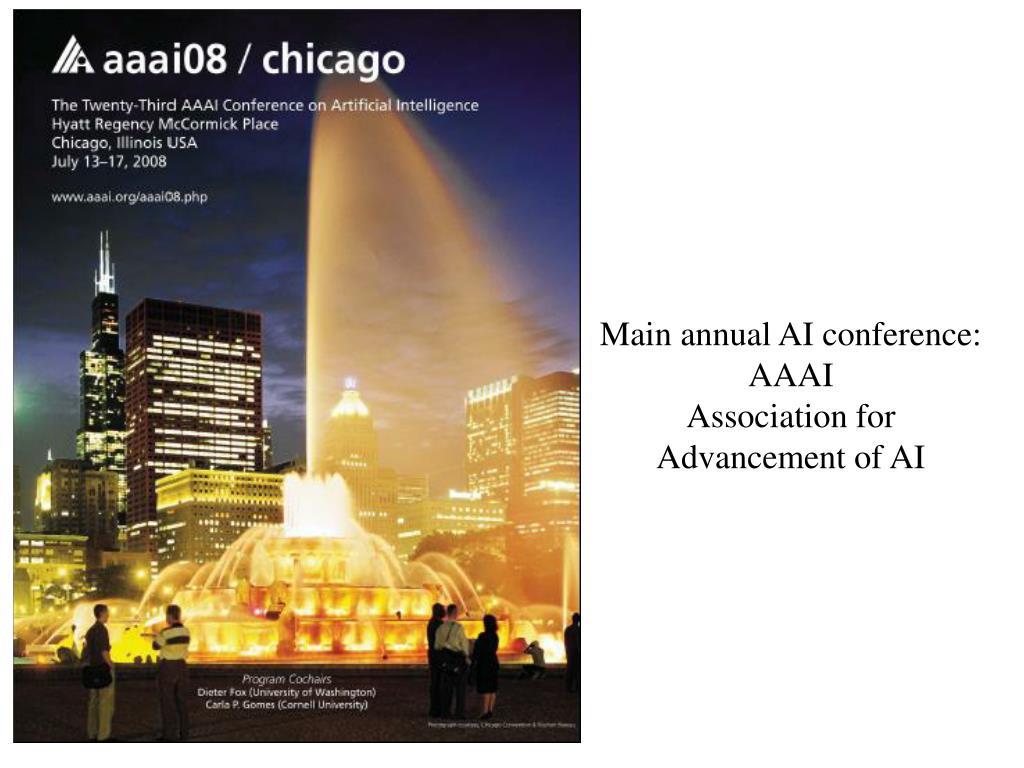 Main annual AI conference: