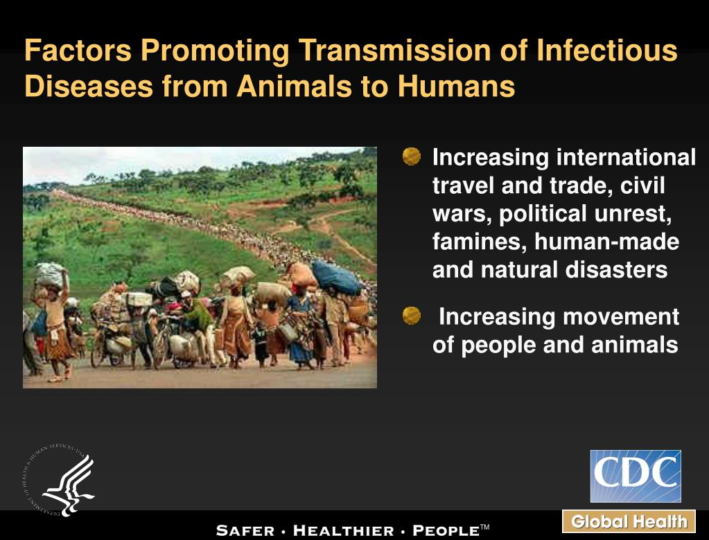 Factors Promoting Transmission of Infectious Diseases from Animals to Humans