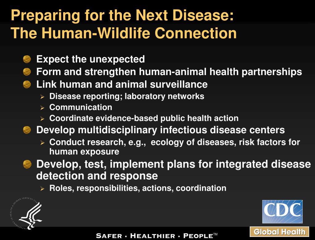 Preparing for the Next Disease: