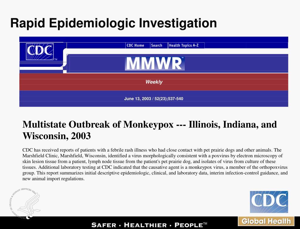 Rapid Epidemiologic Investigation