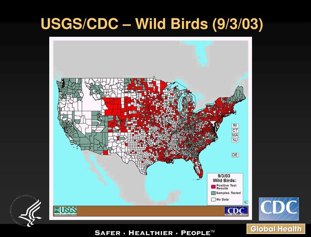 USGS/CDC – Wild Birds (9/3/03)