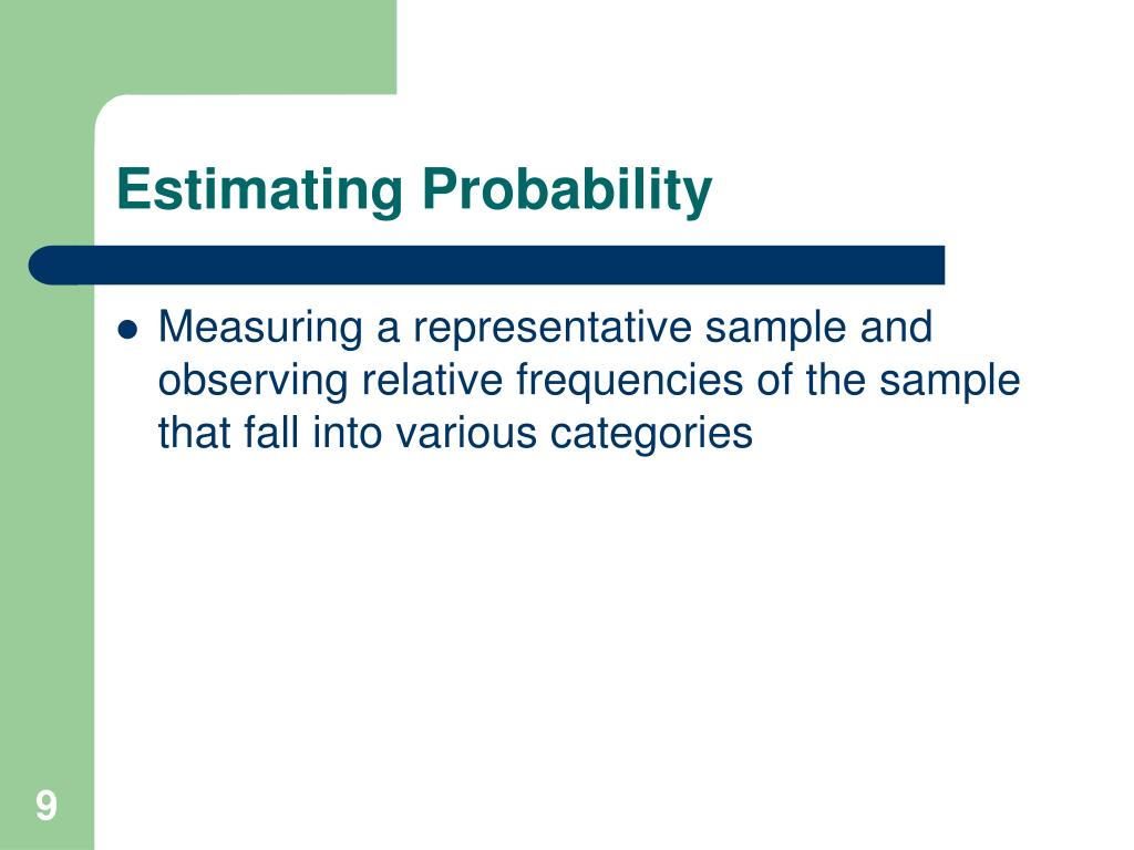 Estimating Probability