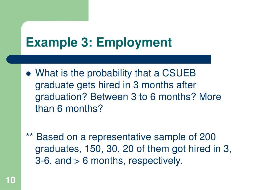 Example 3: Employment