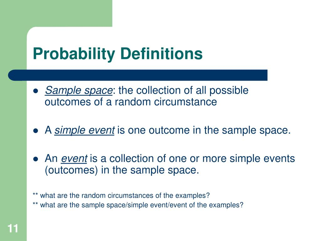 Probability Definitions