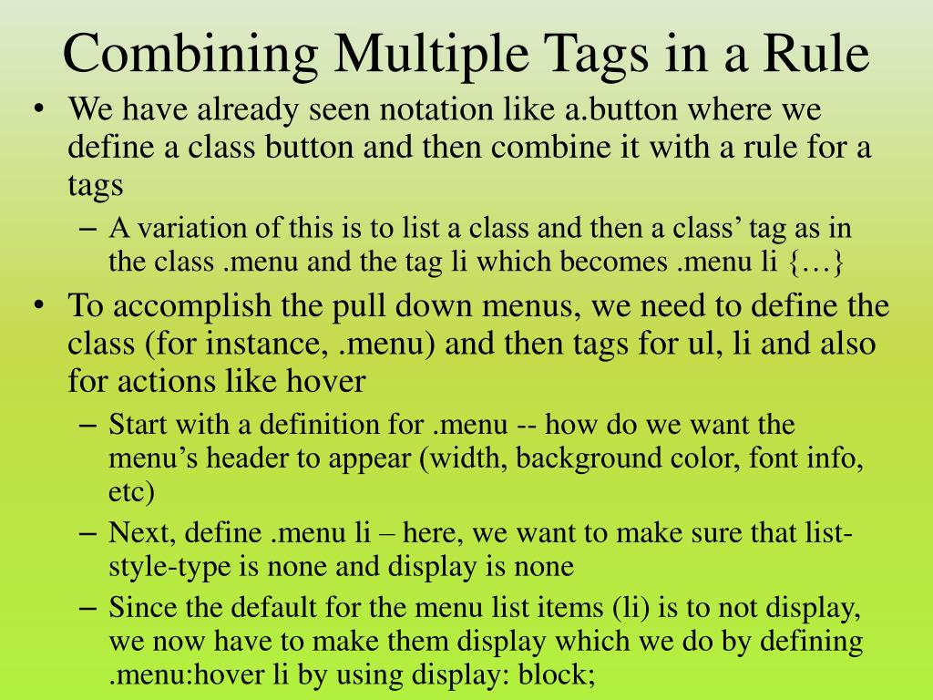 Combining Multiple Tags in a Rule