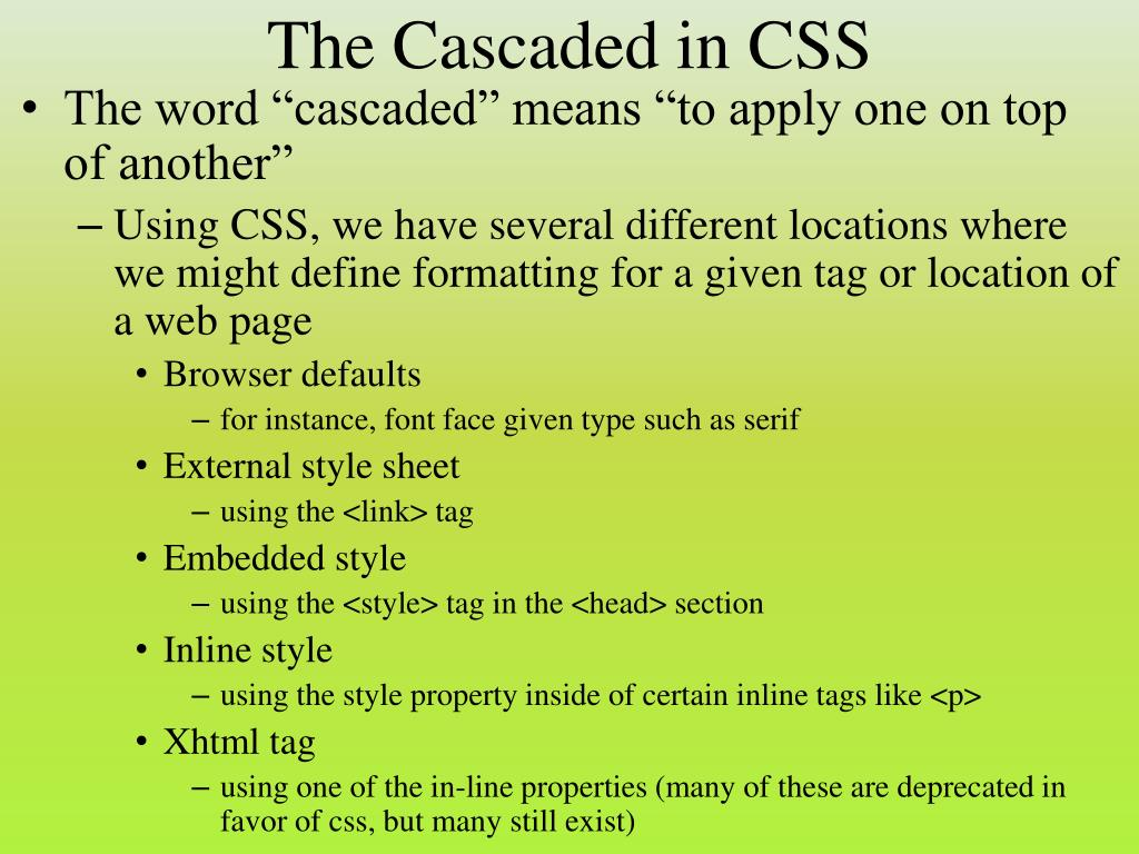 The Cascaded in CSS