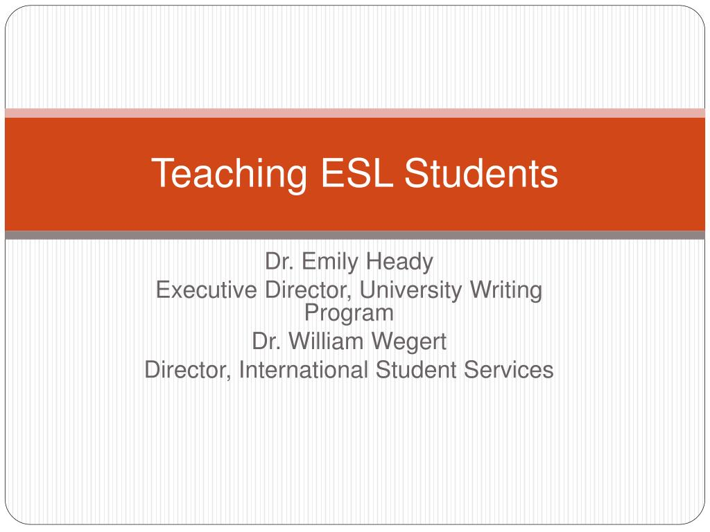 Teaching ESL Students