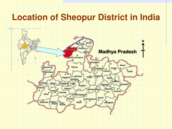 Location of sheopur district in india