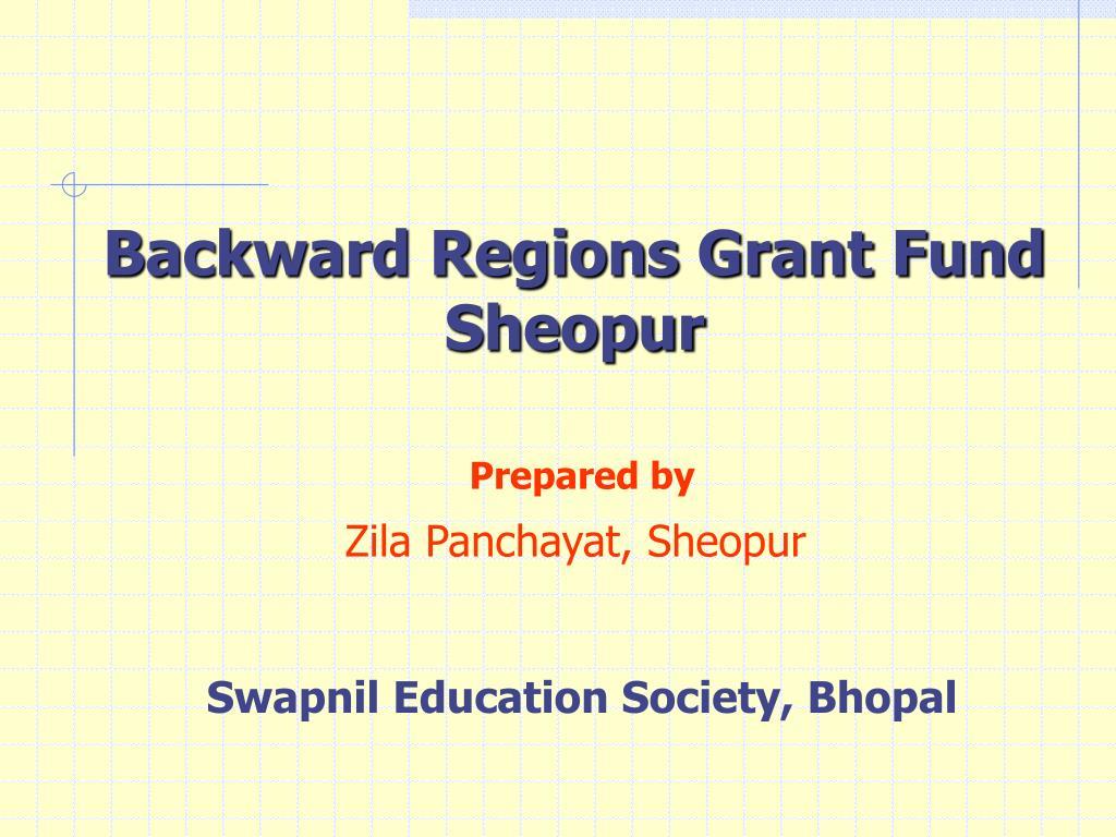Backward Regions Grant Fund