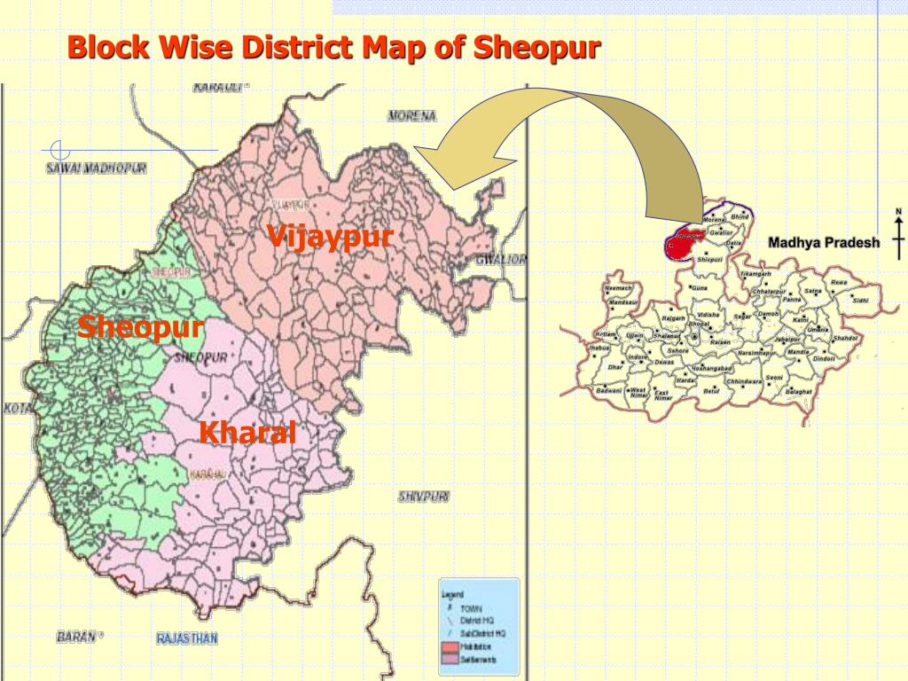 Block Wise District Map of Sheopur