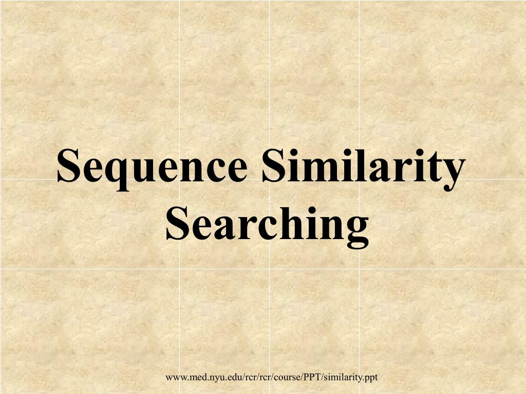 sequence similarity searching