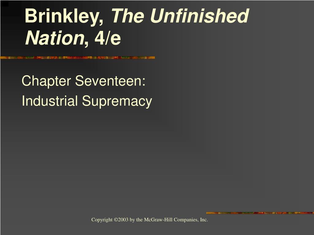 chapter seventeen industrial supremacy l.