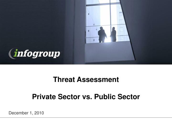 Threat assessment private sector vs public sector