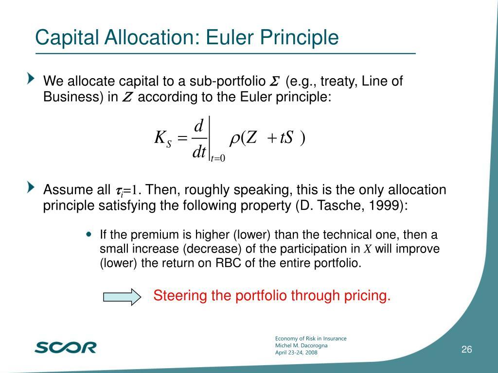 Capital Allocation: Euler Principle