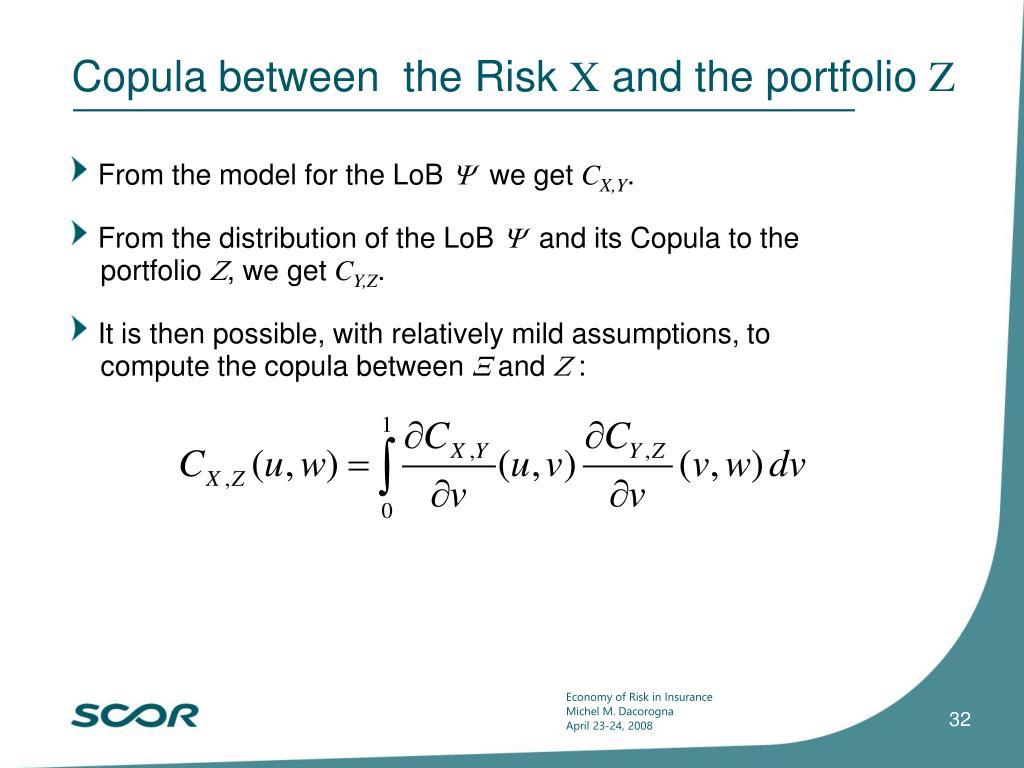 Copula between  the Risk