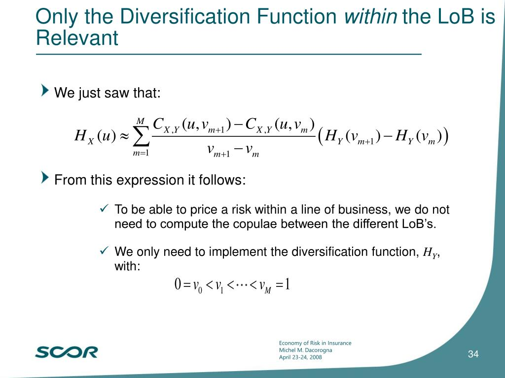 Only the Diversification Function
