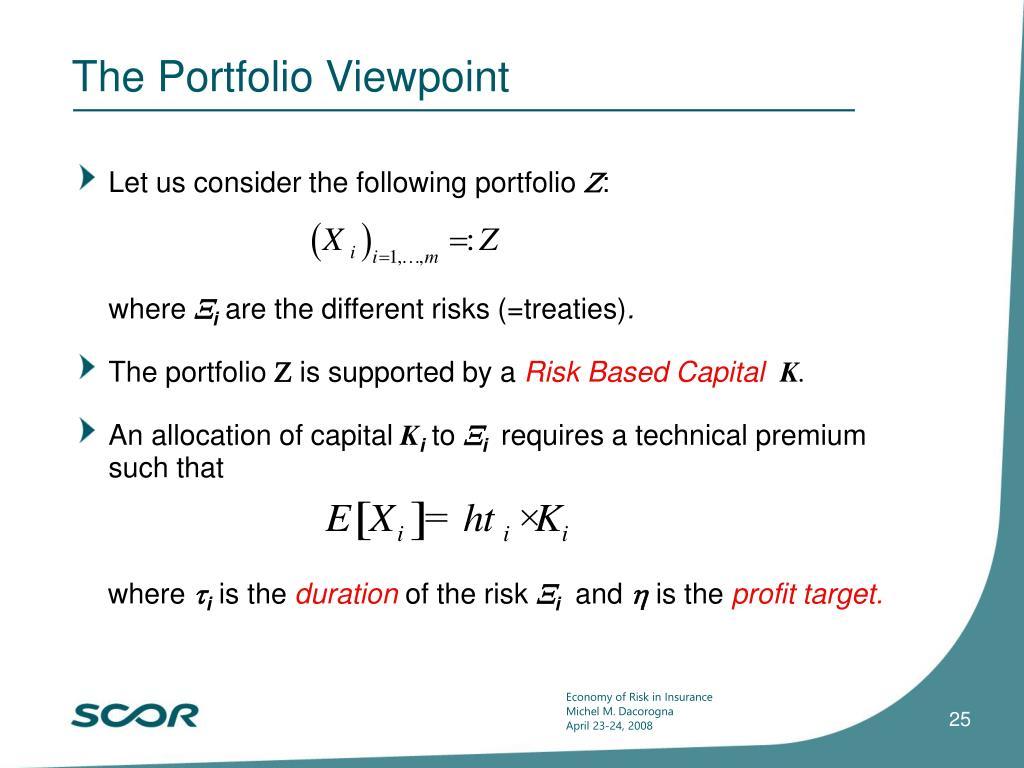 The Portfolio Viewpoint