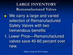 large inventory remanufactured valves7