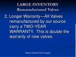 large inventory remanufactured valves8