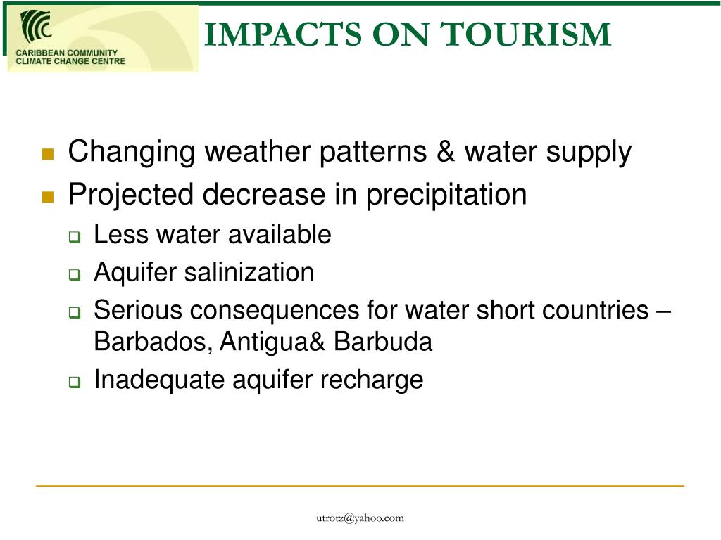 IMPACTS ON TOURISM