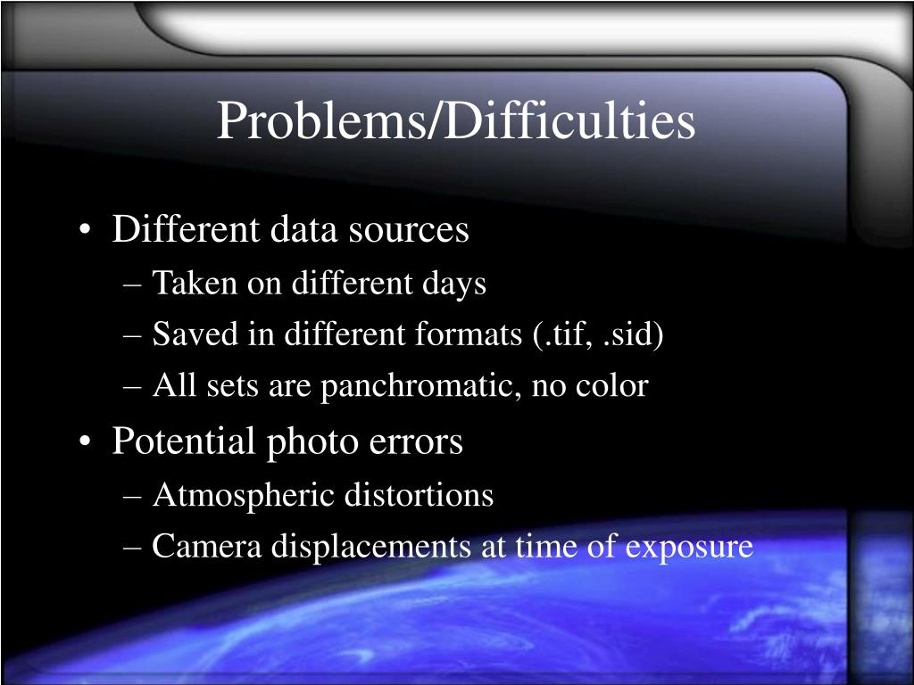 Problems/Difficulties