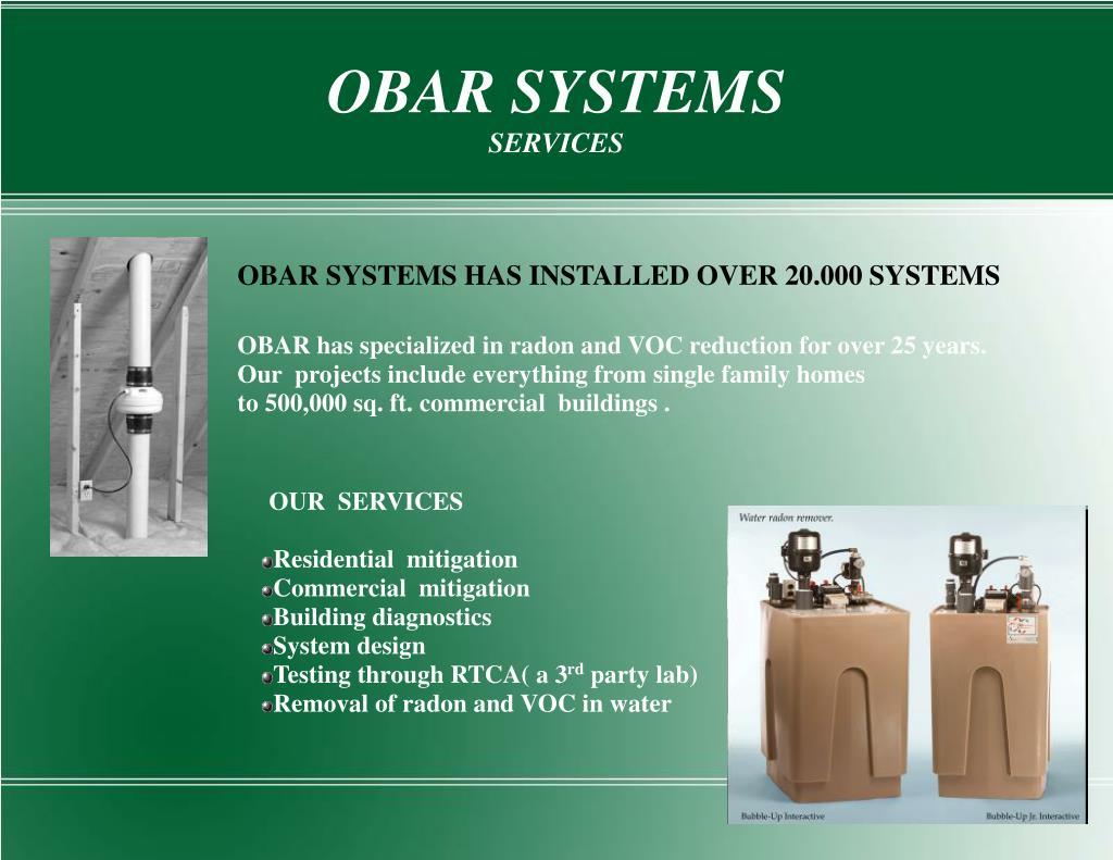 OBAR SYSTEMS