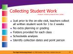 collecting student work