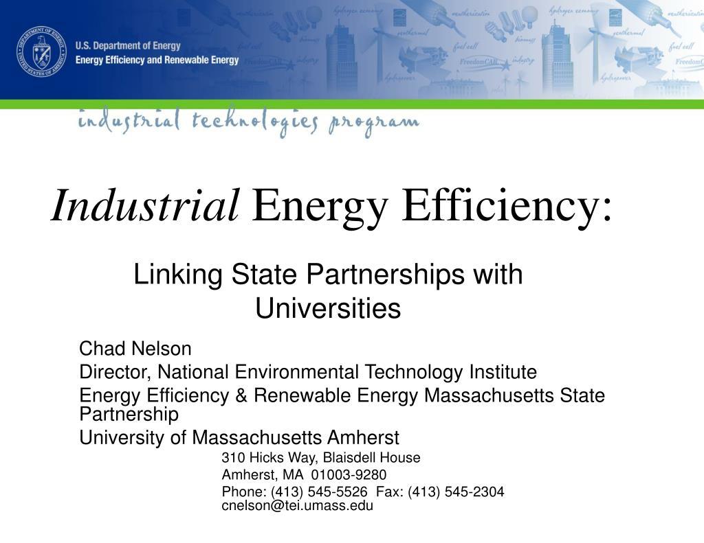 industrial energy efficiency l.