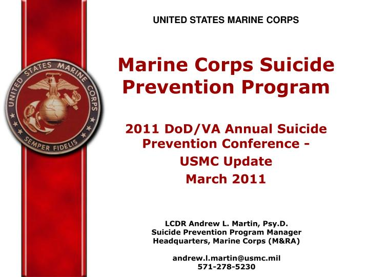 ppt - united states marine corps marine corps suicide prevention, Modern powerpoint