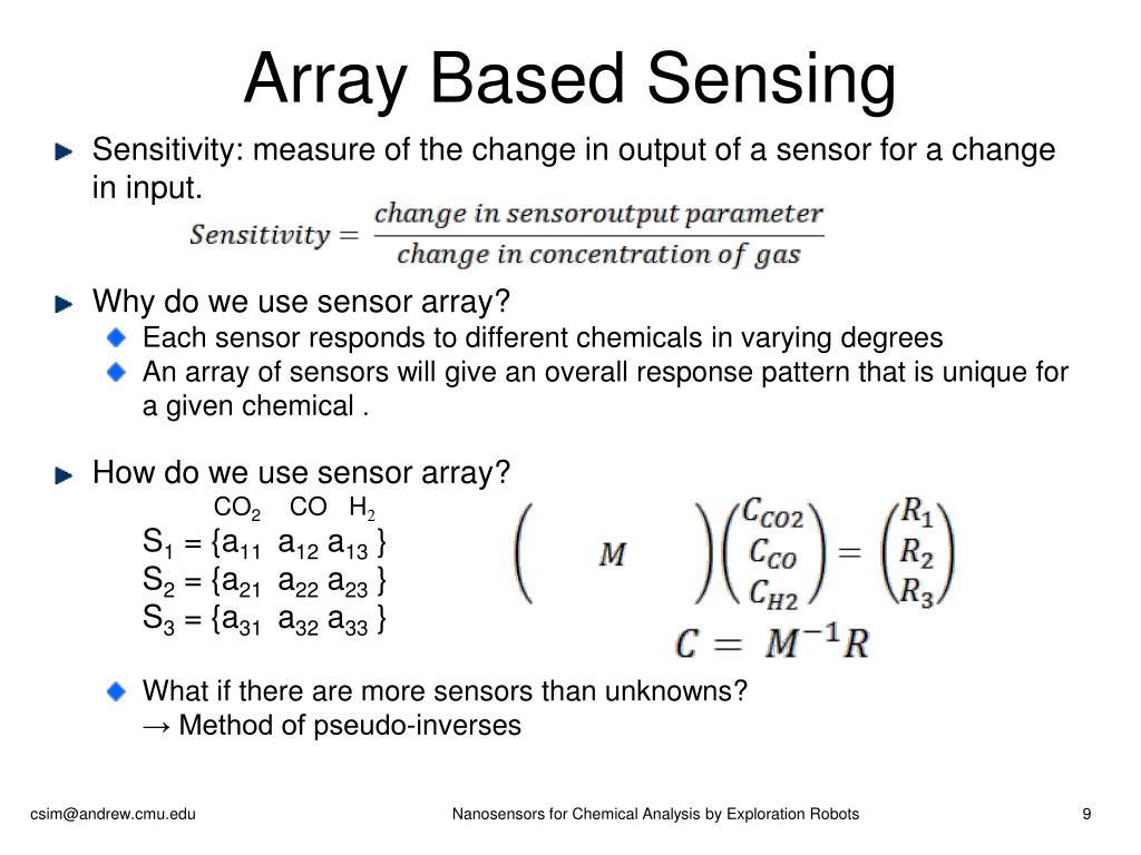 Array Based Sensing