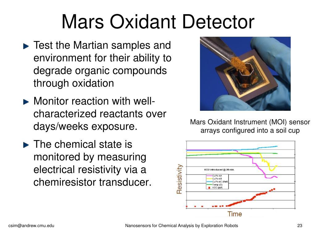 Mars Oxidant Detector