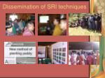 dissemination of sri techniques