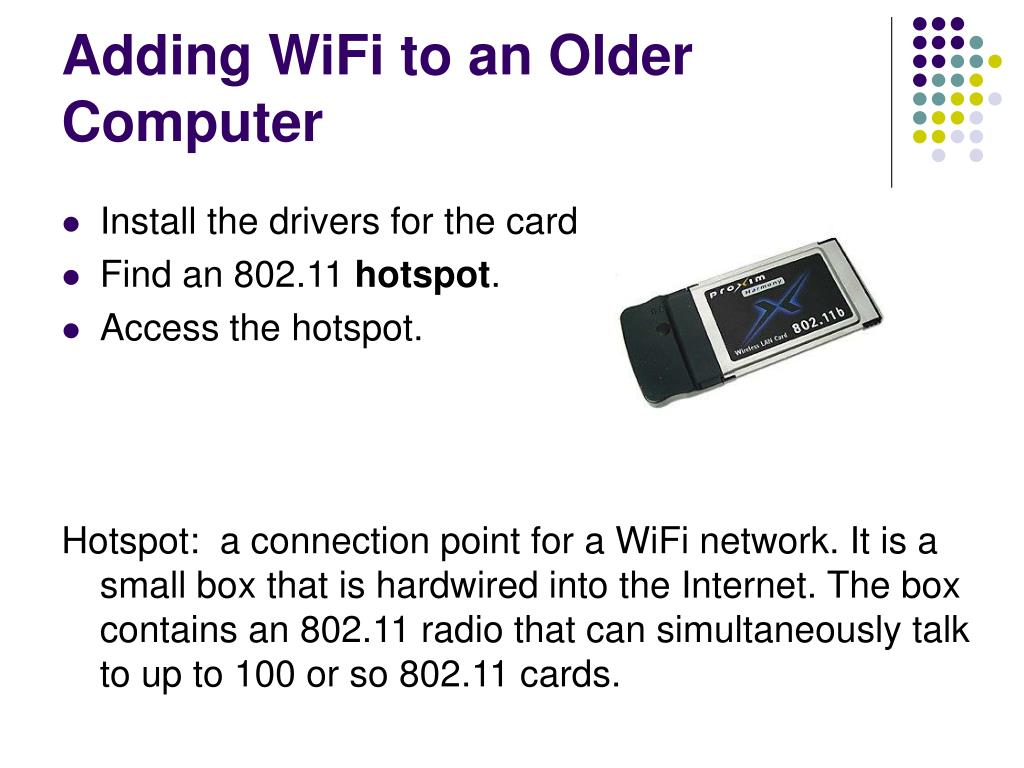 Adding WiFi to an Older Computer