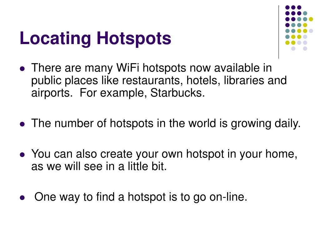 Locating Hotspots