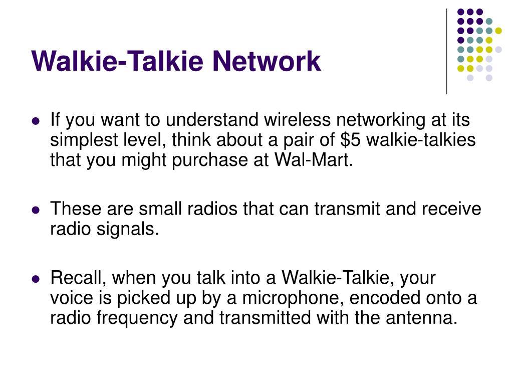 Walkie-Talkie Network