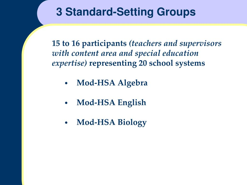 3 Standard-Setting Groups