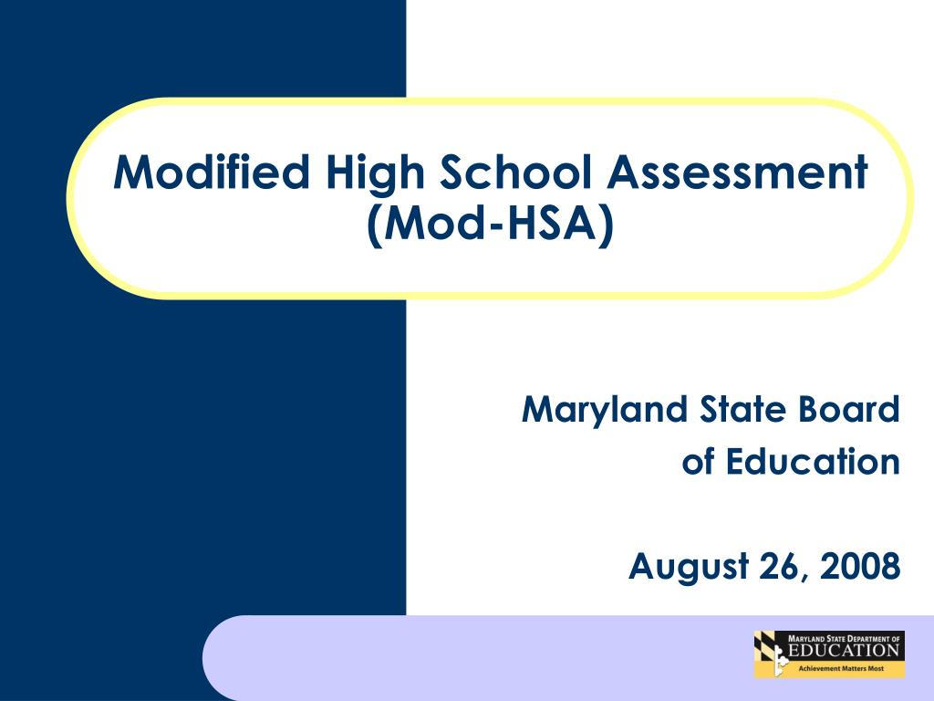 Modified High School Assessment