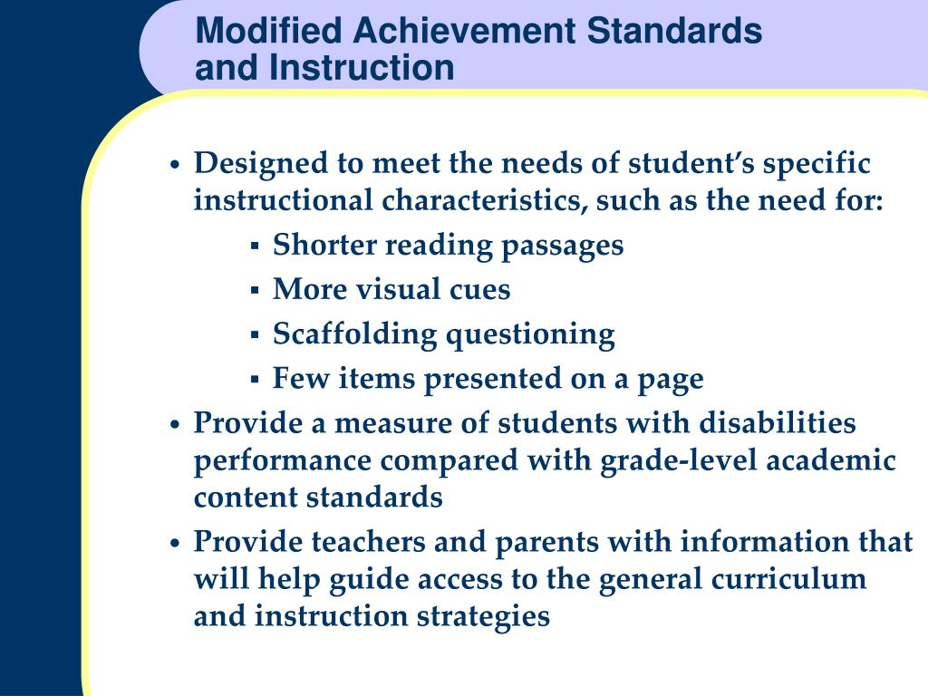 Modified Achievement Standards