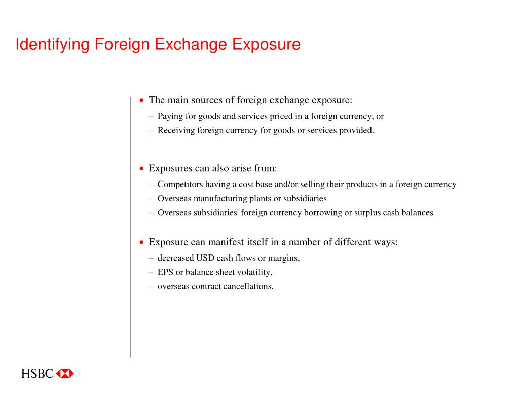Identifying Foreign Exchange Exposure