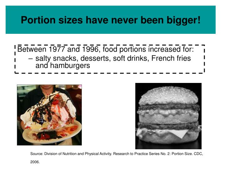 Portion sizes have never been bigger!