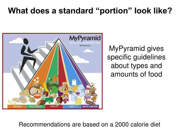 """What does a standard """"portion"""" look like?"""