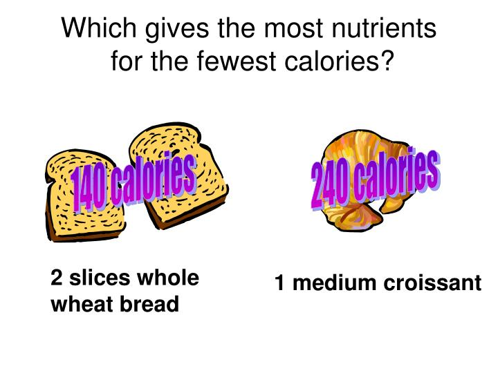 Which gives the most nutrients