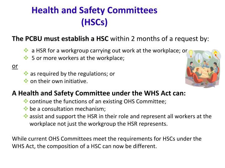 The PCBU must establish a HSC